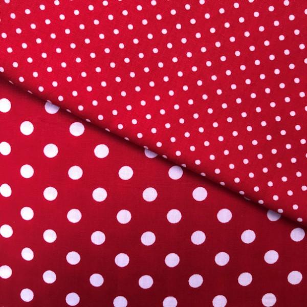 2 Größen Punkte: rot-weiß